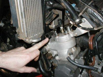 Changer piston motocross